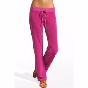 JUICY COUTURE Velour Pants Hot Pink